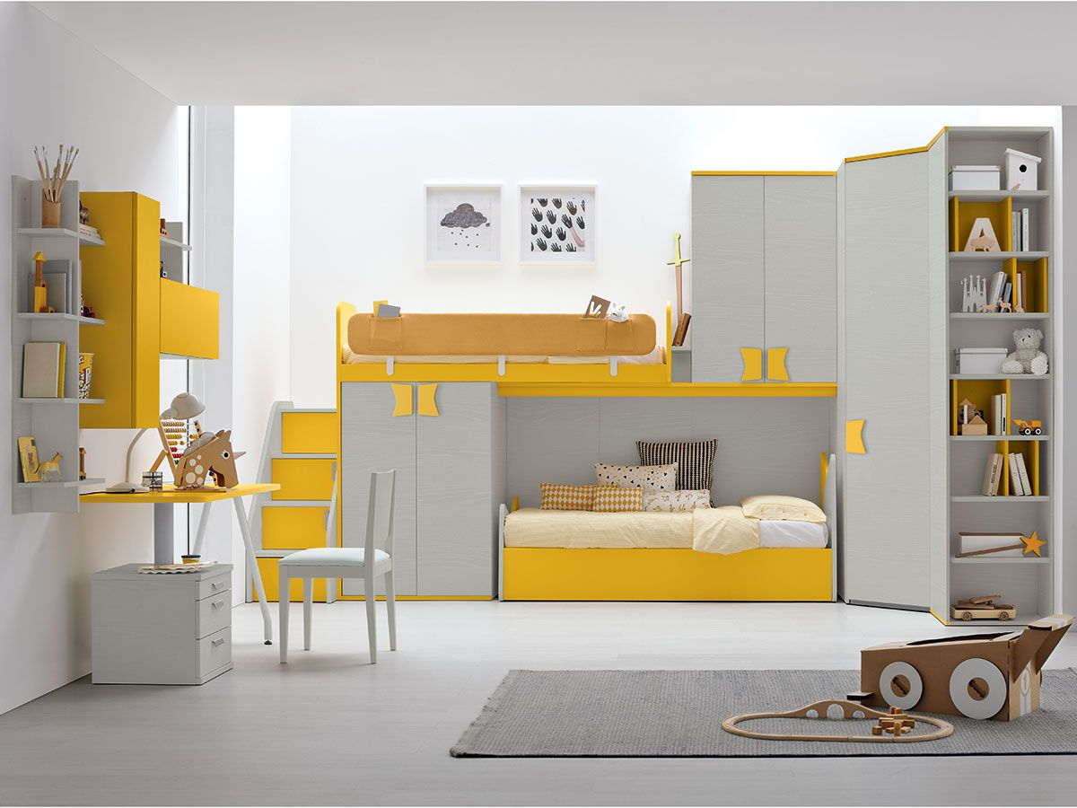 cameretta con letti a ponte be endi im ranza modelleri pinterest kinderzimmer hochbett. Black Bedroom Furniture Sets. Home Design Ideas
