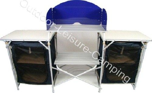 Kampeerkast Bo Camp.Outbound Folding Camping Kitchen With Double Larder Ebay