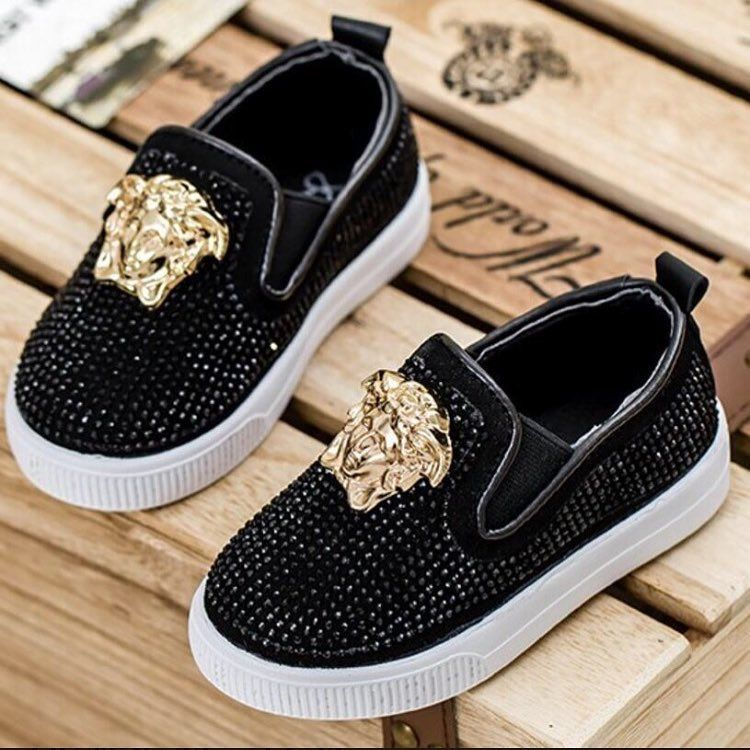 "63319b8e58a Kids Brand Inspired Apparel👫 on Instagram: ""Versace 🖤 www.minimeswagg.com  Category: Boys/Girls Shoes"""