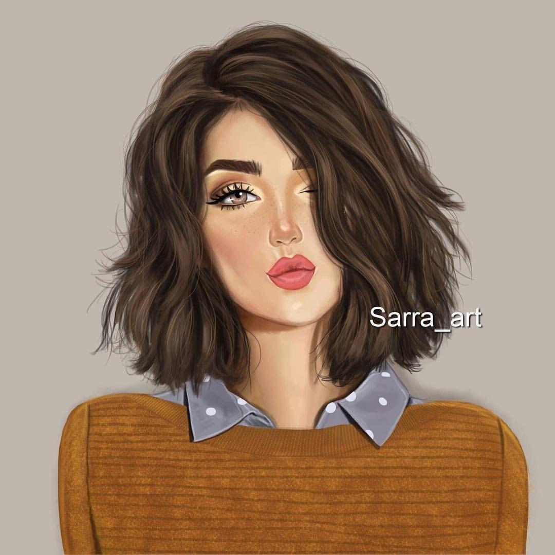 الشعر الق صير ش ع ر القويات ش عر القادرات على التغيير منشن اصحاب الشعر الق Girly Drawings Girly M Sarra Art