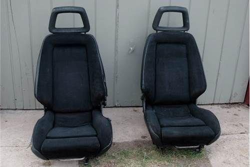 For Sale Black Recaro Lx C Seats Cloth Vinyl E21 E24 Recaro Vinyl Racing Seats