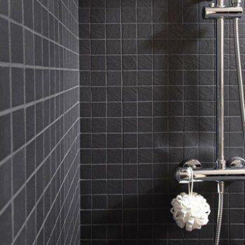 Mosaïque sol et mur Vesuvio noir Leroy Merlin salle de bain