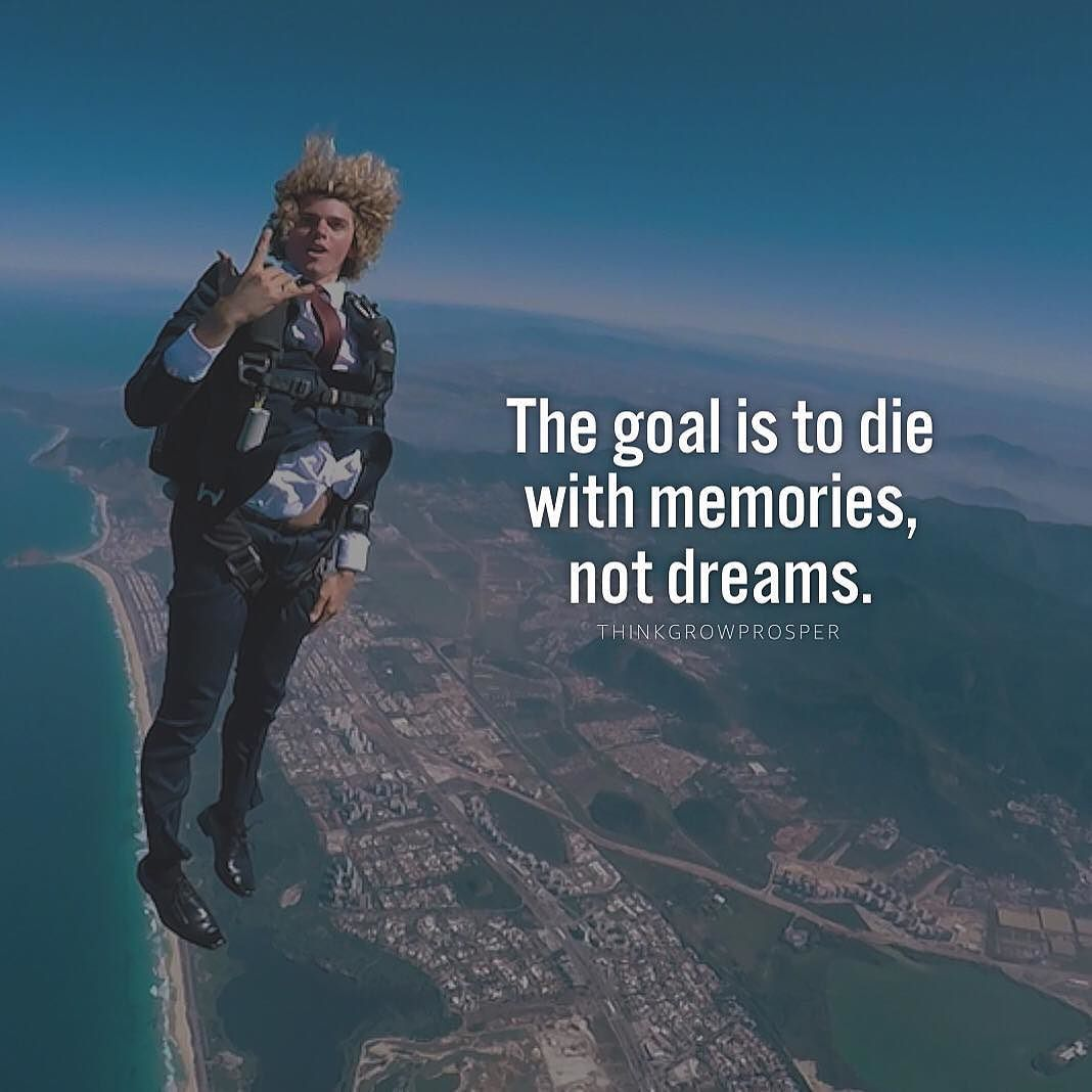 A Wealth Of Wisdom On Instagram Life Is Too Short For Regrets Photo Jayalvarrez Adventure Quotes Diving Quotes Skydiving Quotes