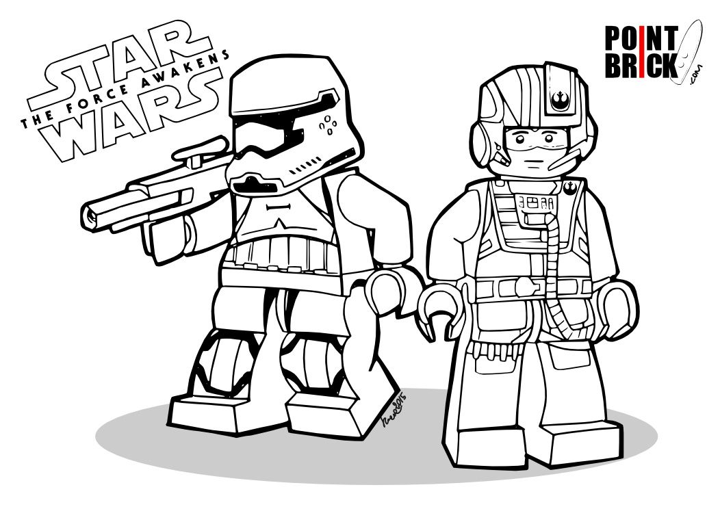 disegni da colorare lego star wars the force awakens - first order ... - Lego Princess Leia Coloring Pages