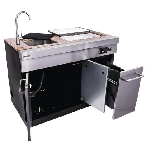 Char Broil Medallion Series Modular Outdoor Kitchen Entertainment Module Modular Outdoor Kitchens Outdoor Kitchen Outdoor Kitchen Cabinets