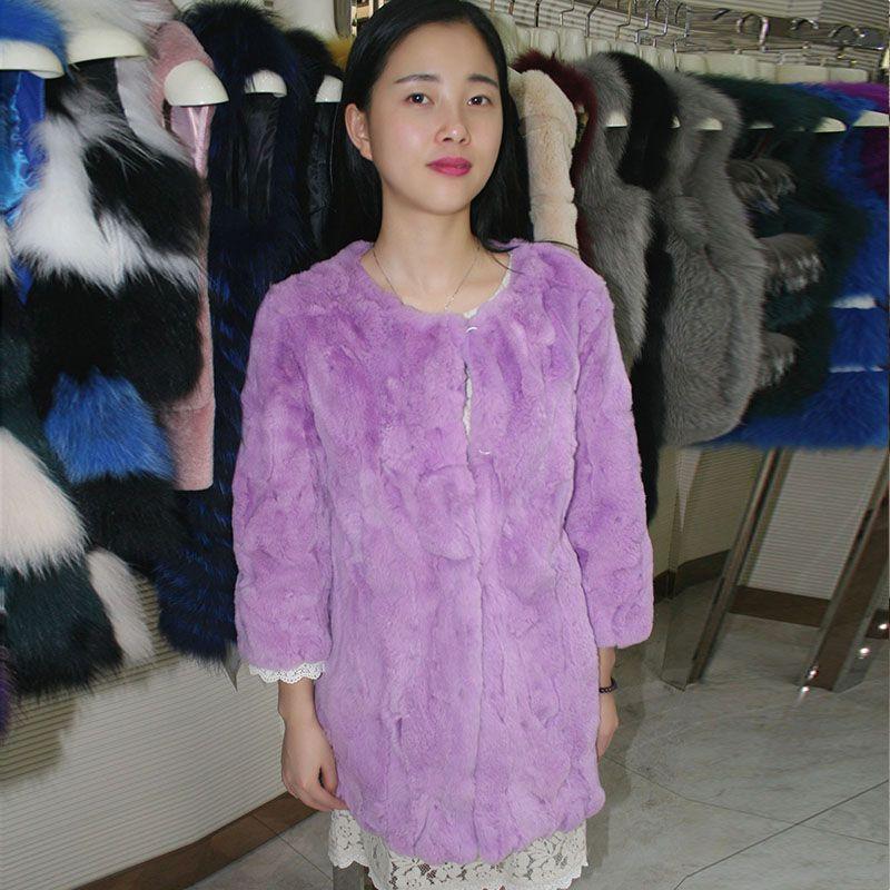 >> Click to Buy << Real Rex Rabbit fur coat  long  whole skin  new winter 2016 women #Affiliate