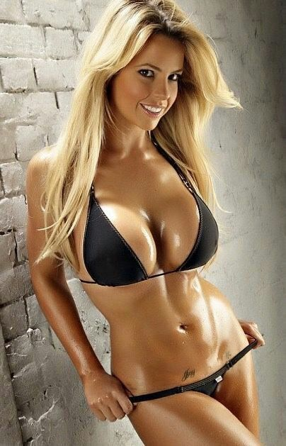 Hot blonde bikini