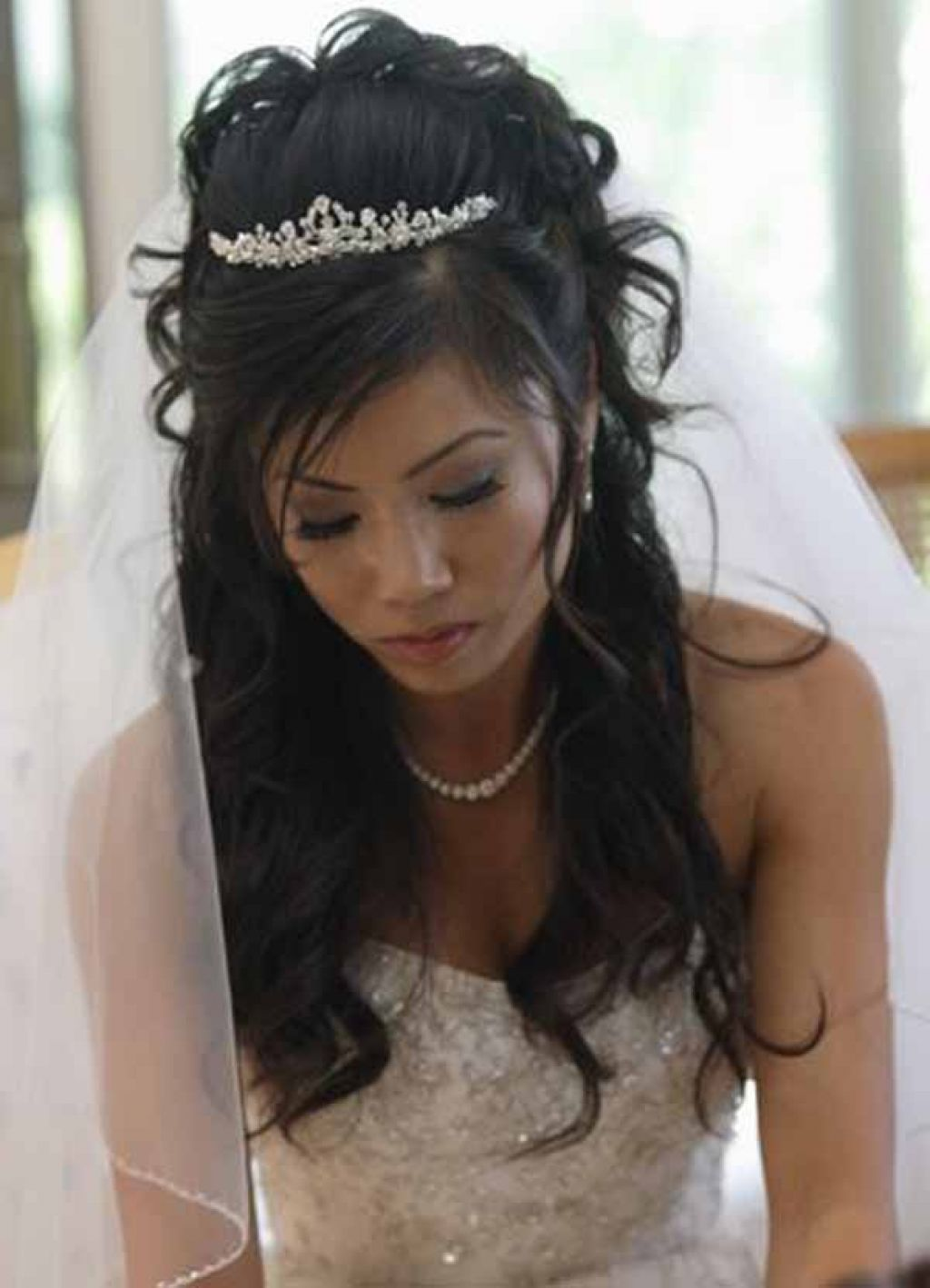 Long Wedding Hairstyles With Tiara Hairstyles Ideas For Girls 2015