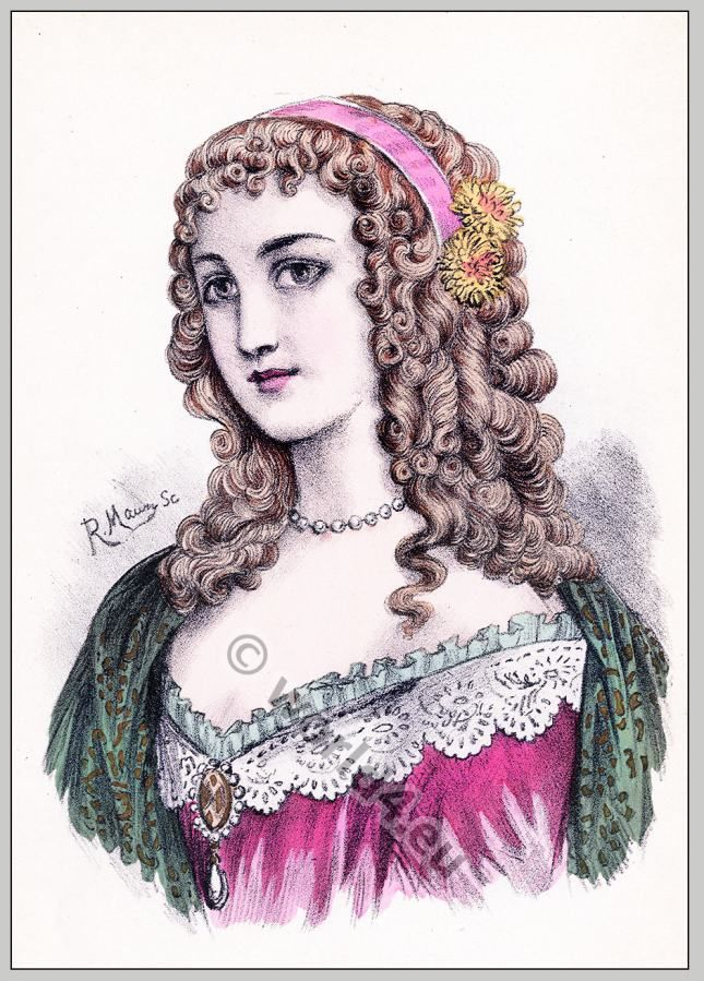 Hairstyle Louis XIII. period Historical hairstyles