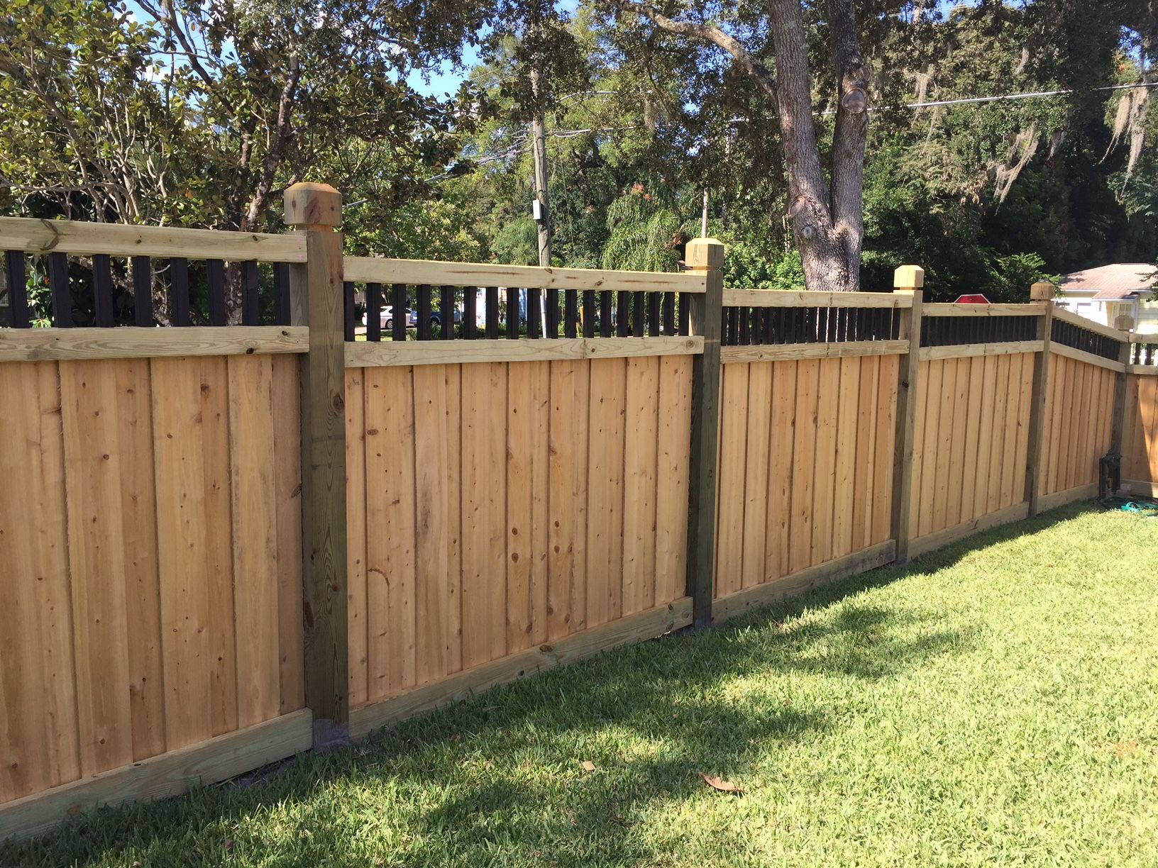 Custom Wood Privacy Fence Design By Mossy Oak Fence Company In