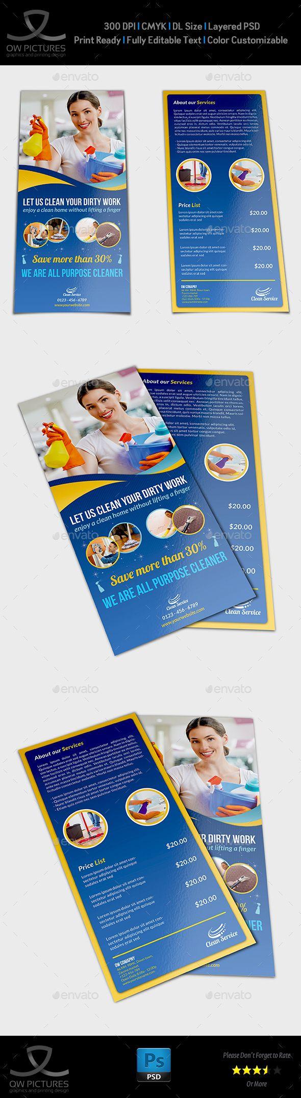 Cleaning Services Dl Flyer Template Flyer Design Pinterest