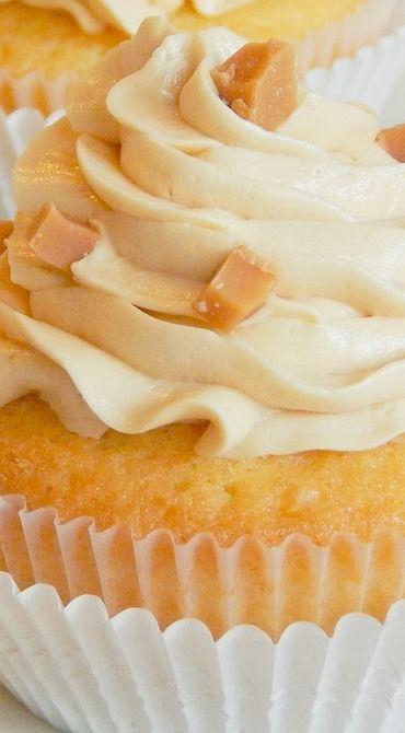 Caramel Vanilla Cupcakes
