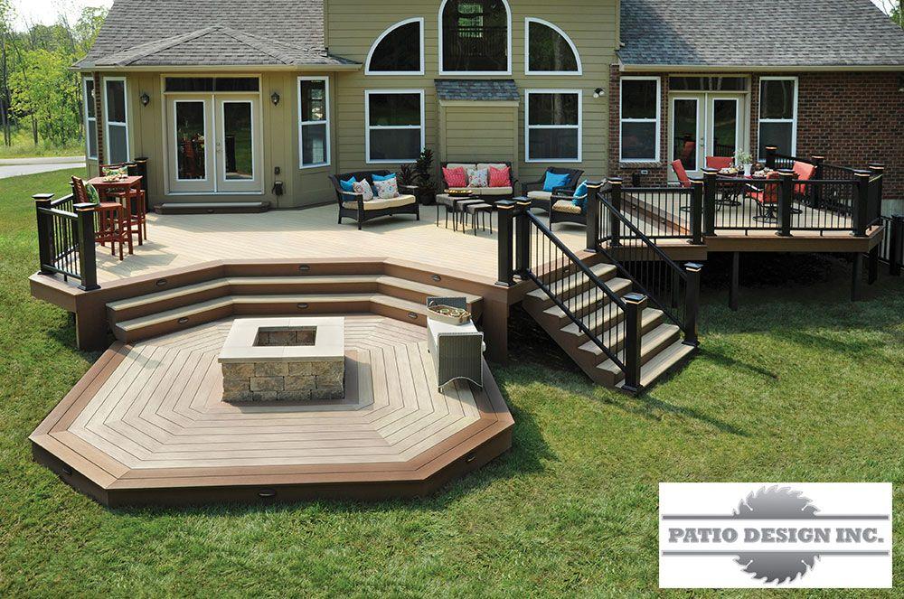 Terrasse azek decks outdoor space pinterest for Idee terrassement exterieur