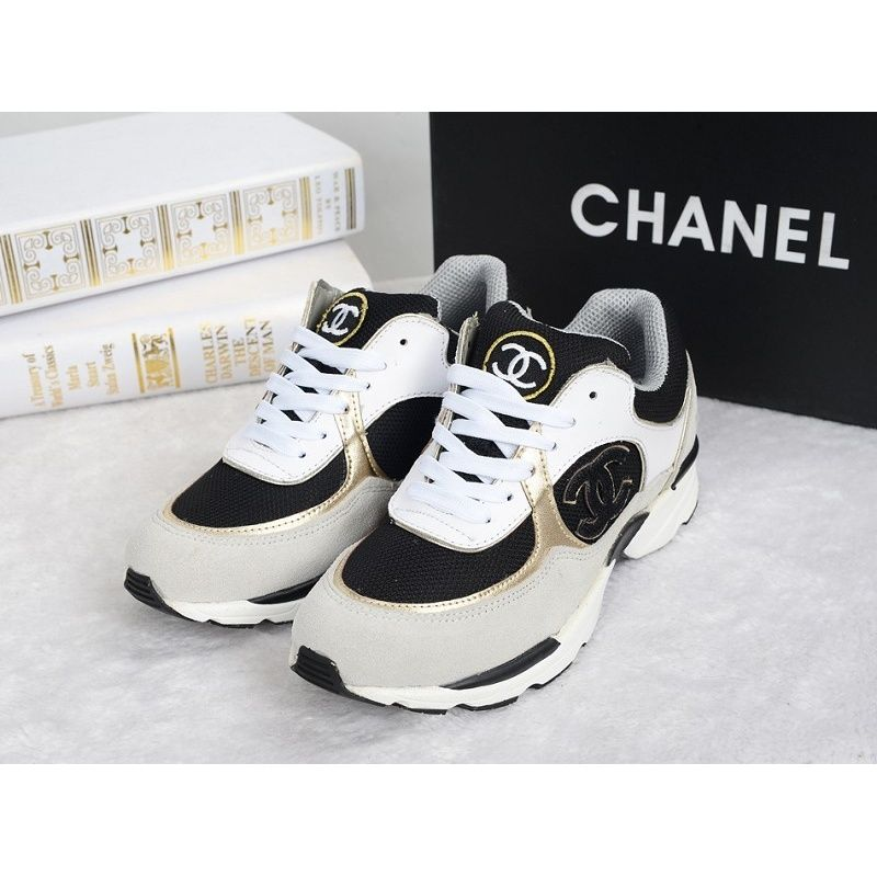 black and white shoes chanel basket
