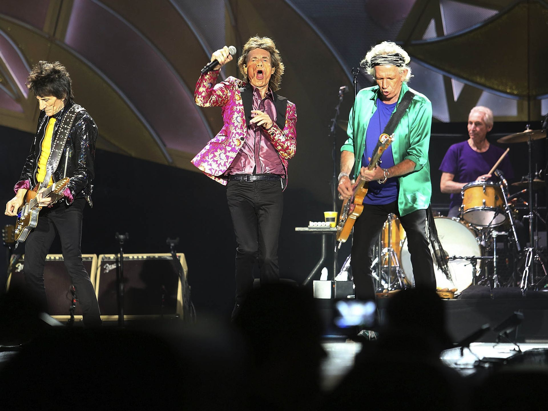 The Rolling Stones perform during the Zip Code Tour at the Citrus Bowl stadium in Orlando.  Red Huber, Orlando Sentinel, via AP
