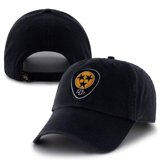new concept 32259 49086 Nashville Predators Smashville Clean-Up 47 Brand Adjustable Hat (Navy) LOVE  the tri-star logo.