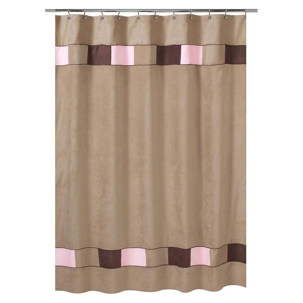 Sweet jojo designs soho shower curtain pinkbrown pink brown