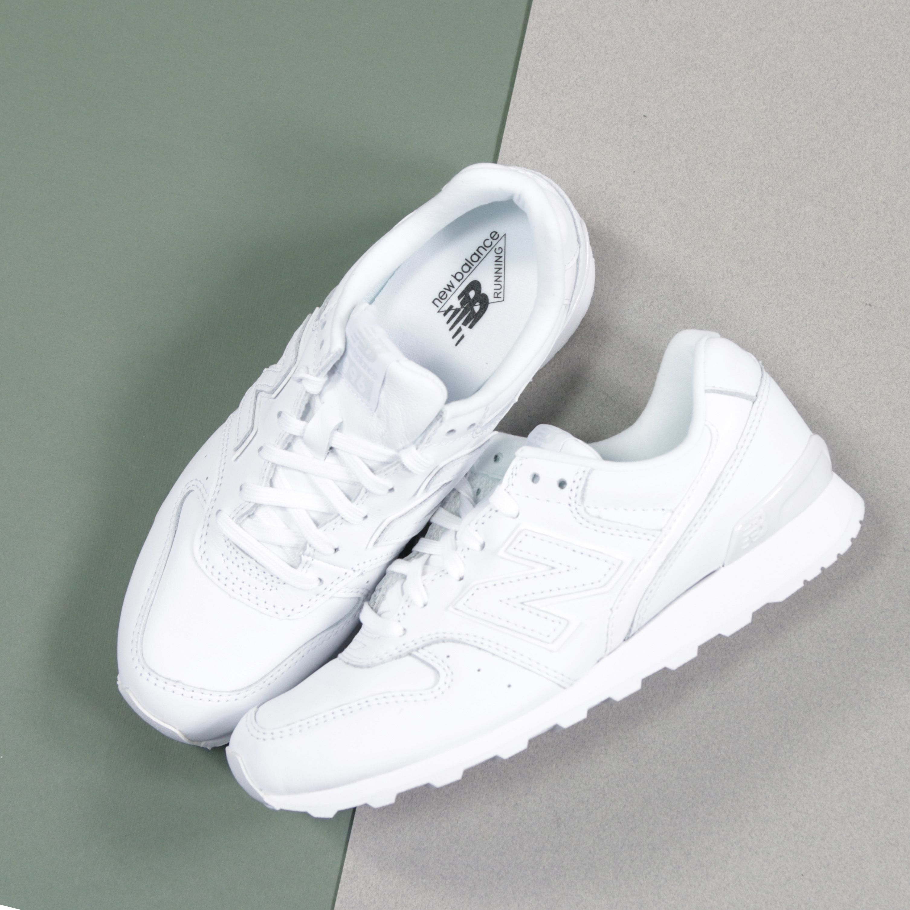 witte new balance sneakers wr996 dames