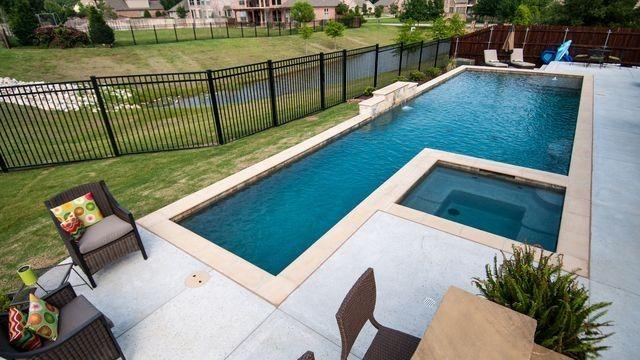 Pool With Lap Lane Lap Pool Designs Lap Pools Backyard Backyard Pool Designs