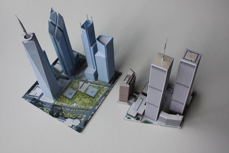 New WTC Paper Model Help  - SkyscraperCity | Foldables