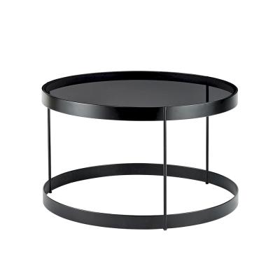 Drum Coffee Table 60 Grey Glass Black Snuran Is In 2019 Drum Coffee Table Coffee Table