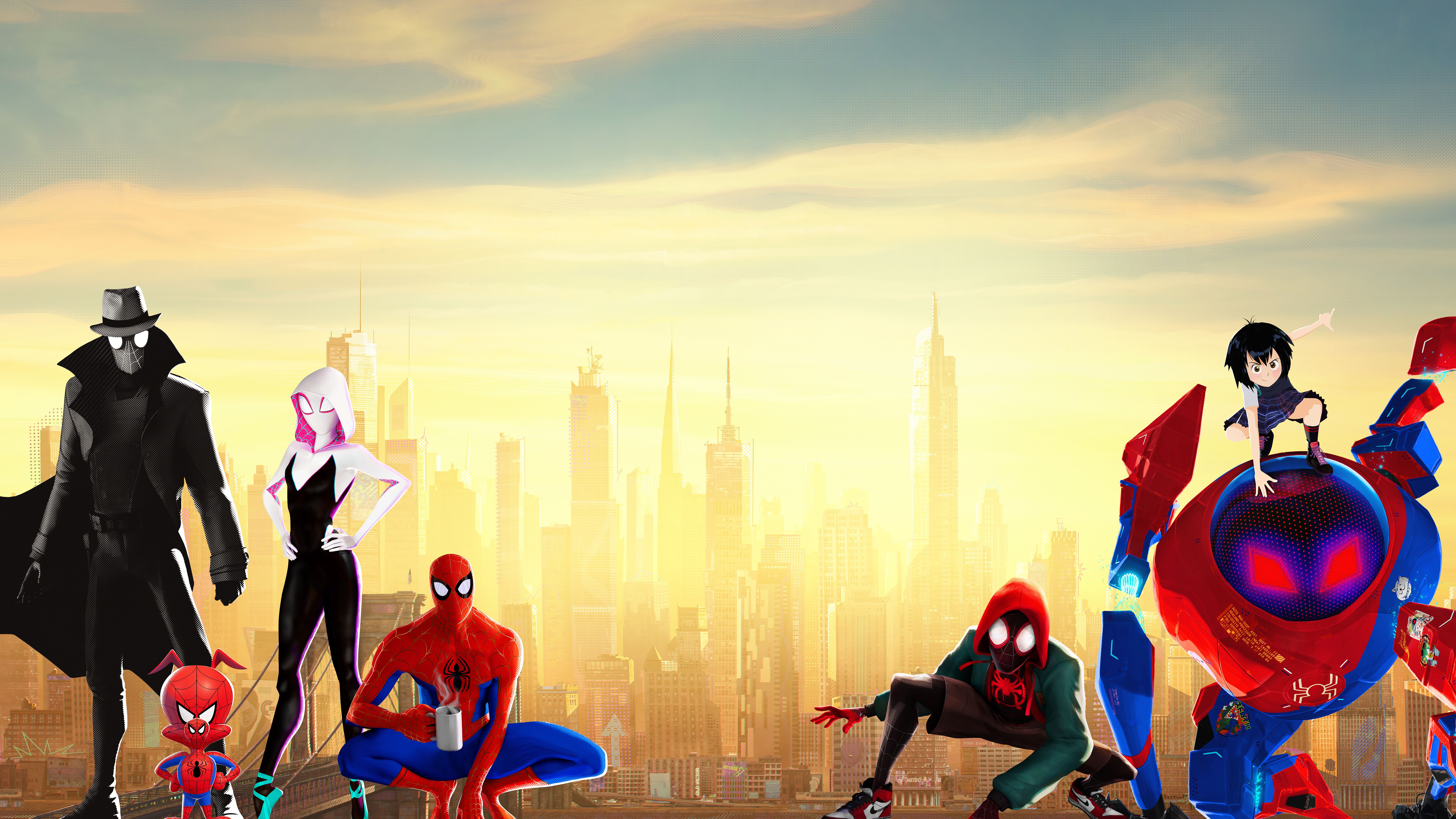 Spider Man Into The Spider Verse 4k 8k Spider Verse Spider Gwen Spiderman