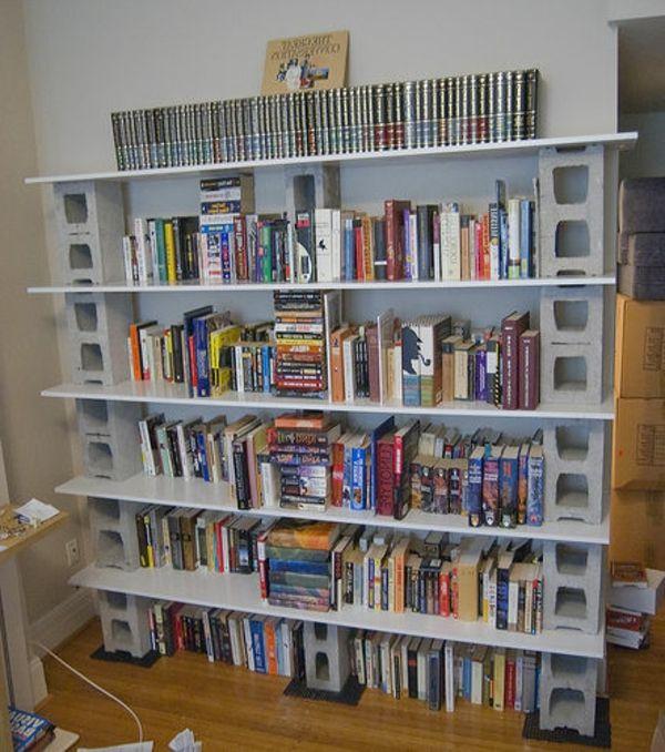 Bücherregal selber bauen  bücherregal-selber-bauen-moderne-gestaltung- sehr interessant ...