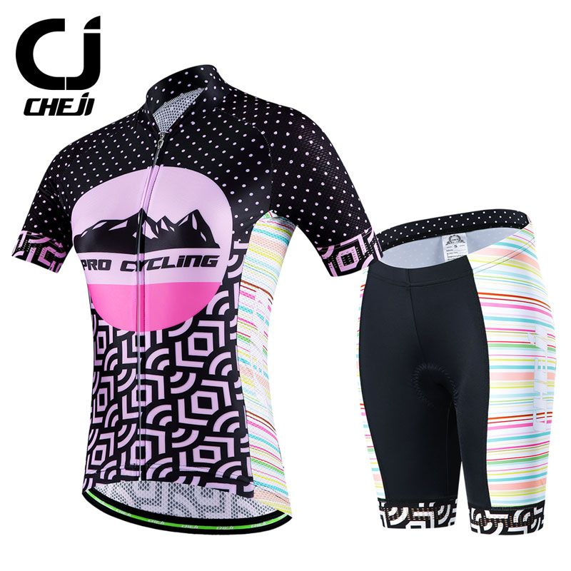 Women Cycling Jersey Set MTB Breathable Bike Suits Riding Bicycle Clothing Tops