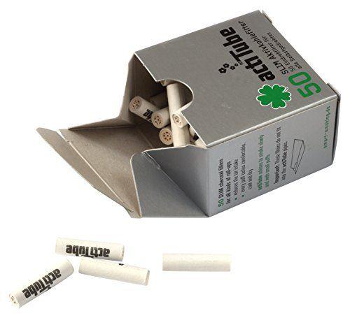 50 actiTube Aktivkohlefilter zum selbst drehen Filters