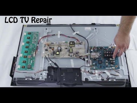 Lcd Tv Repair Tutorial Lcd Tv Parts Overview Common Symptoms Solutions How To Fix Lcd Tvs Lcd Tv Repair Lcd