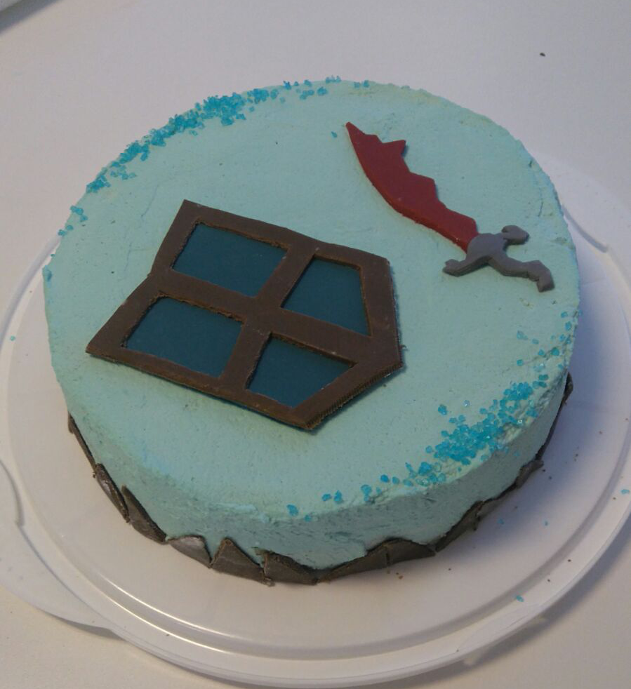 Gf Made Osrs Themed Birthday Cake For Me Runeswap Osrs Faves