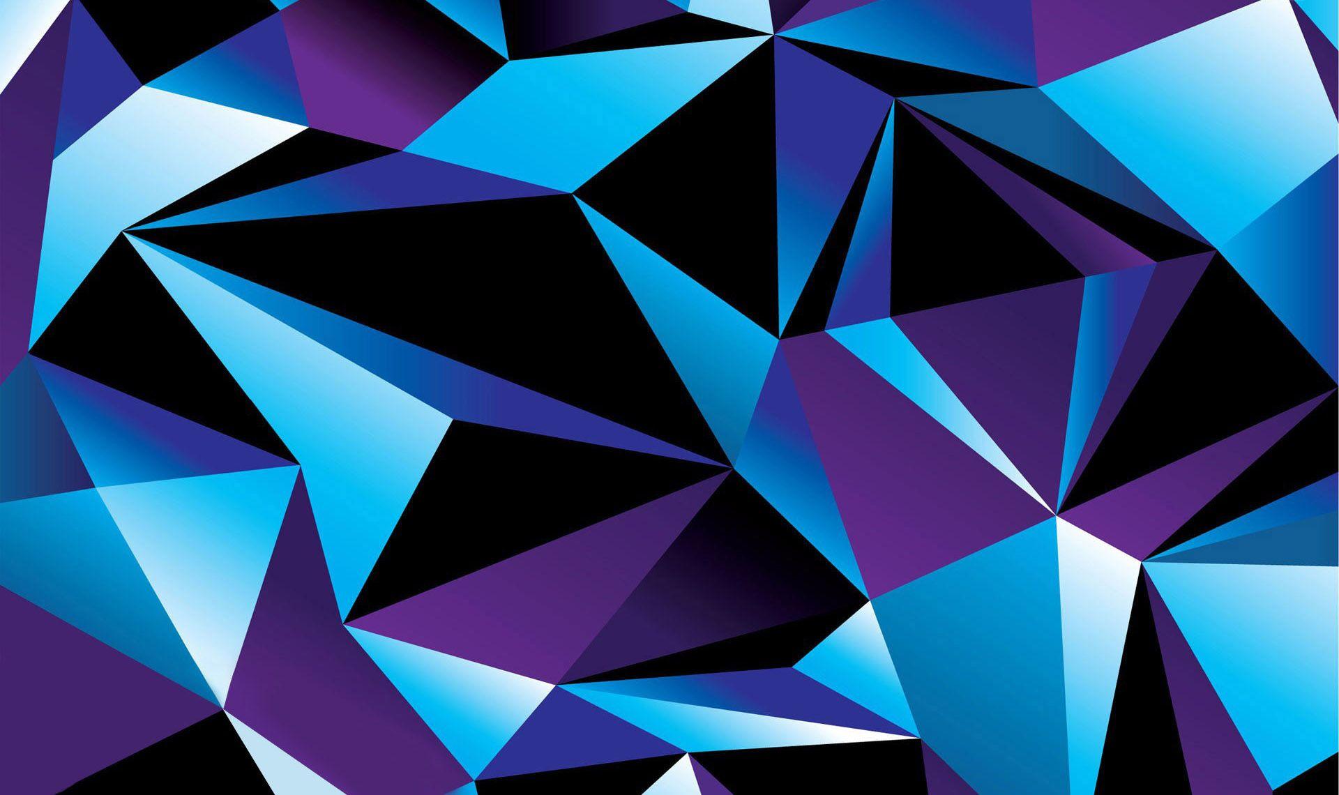 Blue Diamond Pattern Wallpaper Seni