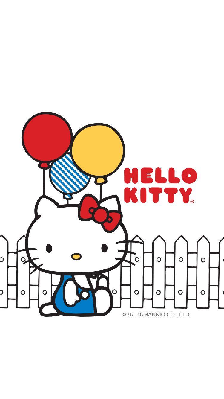 Hello Kitty Popsugar Mobile Wallpaper Iphone6 Balloons White Jpg