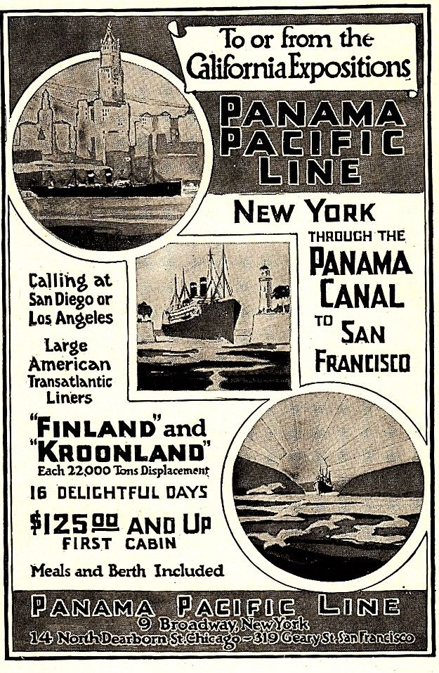 1915 Panama Pacific Line New York Through