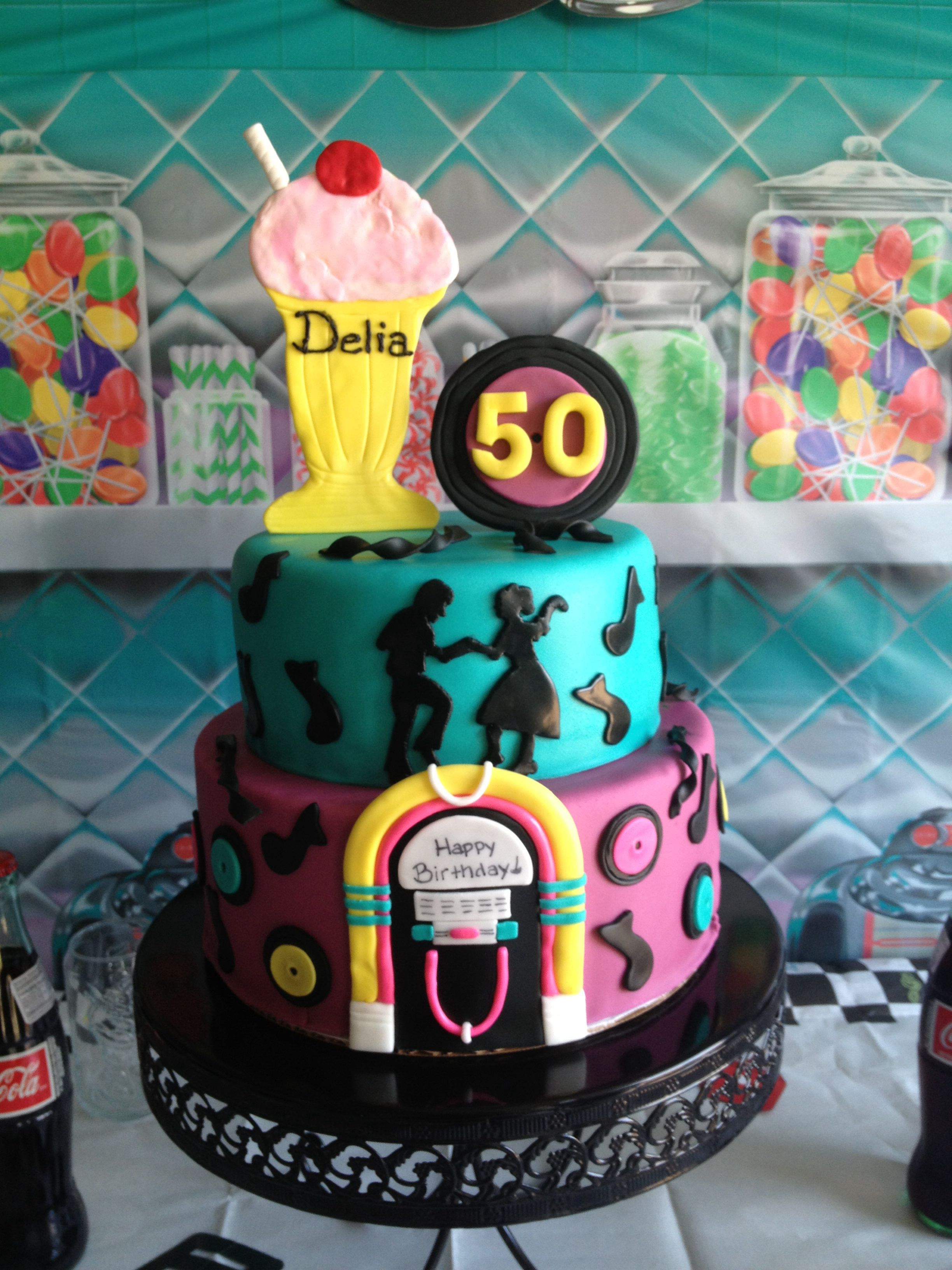 50 S Birthday Cake Sock Hop Diner Jukebox Let Them