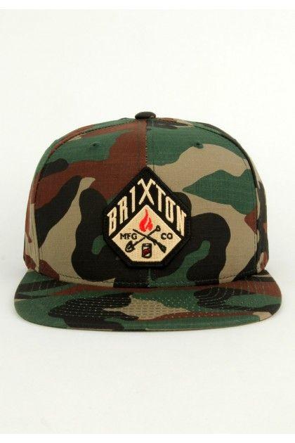 34d1687dd6 Brixton Clothing Walsh Snapback Hat - Camo   Snapbacks   Brixton ...