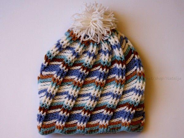 Mütze mit Spiralmuster aus Wollresten - Häkelanleitung | Detské ...