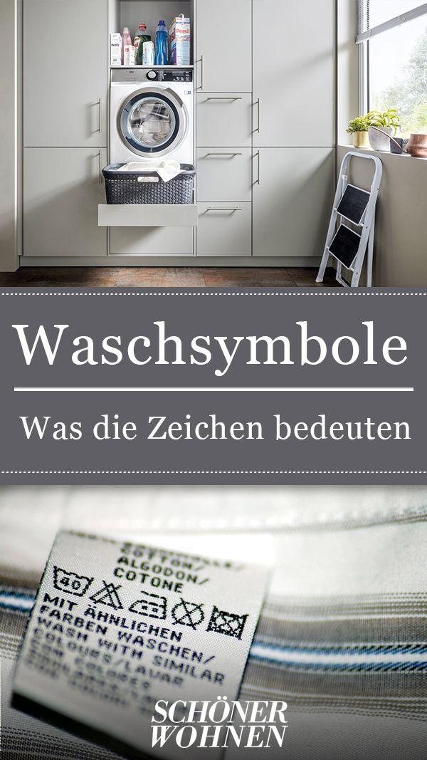 Waschsymbole Was die Waschzeichen bedeuten Wäsche