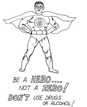 Say No to Drugs Coloring Pages Printable | Red ribbon ...
