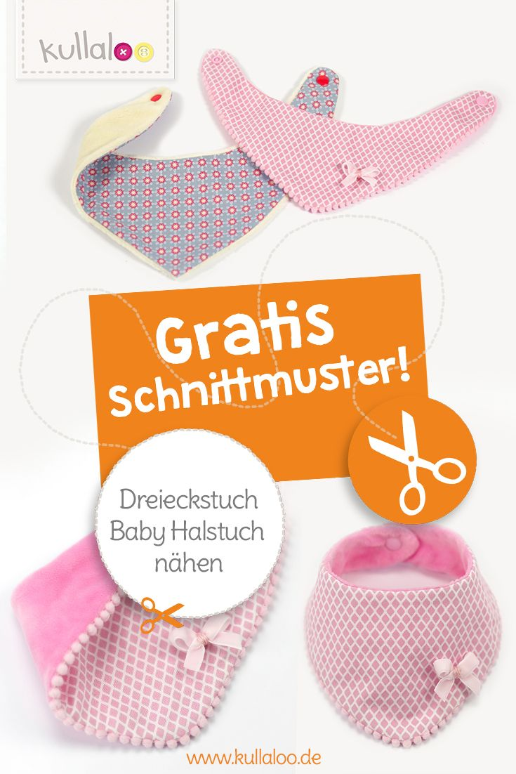 Dreieckstuch / Baby Halstuch nähen für Babys und Kinder ...