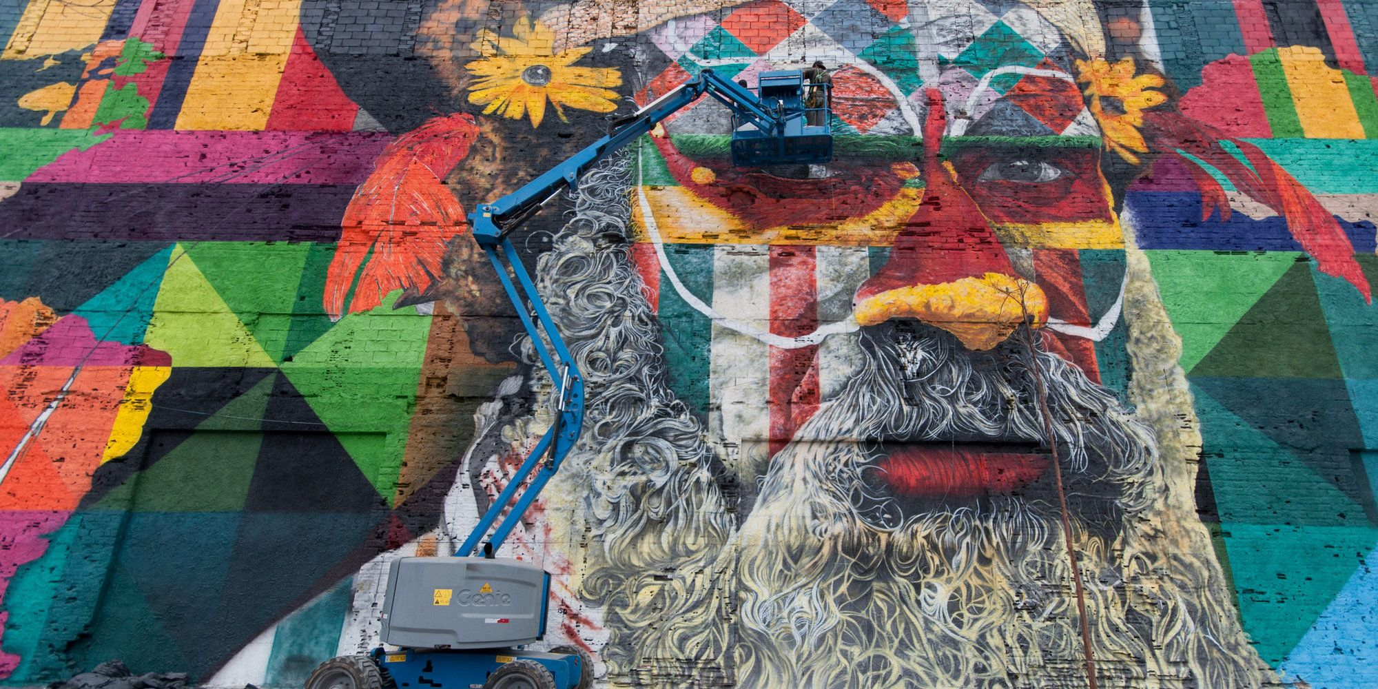 Street Artist's Epic Ode To The Olympics Might Break World Record For Largest Mural
