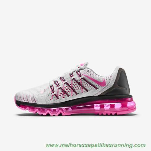 comprar tenis online 698903-106 Nike Air Max 2015 Branco Preto Rosa ... f71994819f