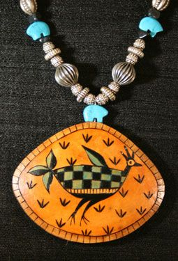 Rooster Totem Gourd Jewelry by Carla Bratt