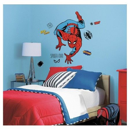 RoomMates Marvel Classic SpiderMan Peel And Stick Giant Wall - Superhero wall decals target