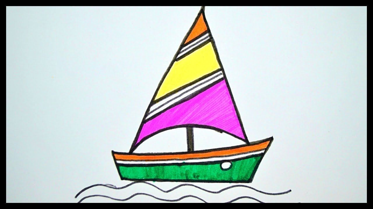 How To Draw Boat Drawing For Kids Coloring For Kids With