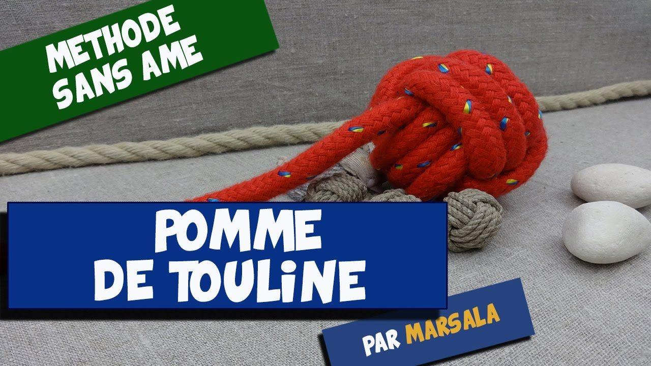 Noeud Pomme de Touline sans âme, sans bille ( monkey fist, poing de sing...