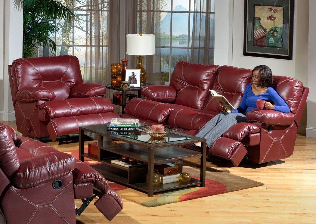 Furniture U0026 Merchandise Outlet   Murfreesboro U0026 Hermitage, TN Cortez Red  Reclining Sofa