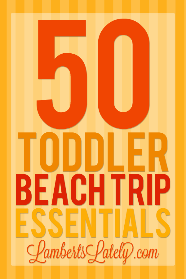 Toddler Beach Trip Essentials Packing List  Toddler Beach