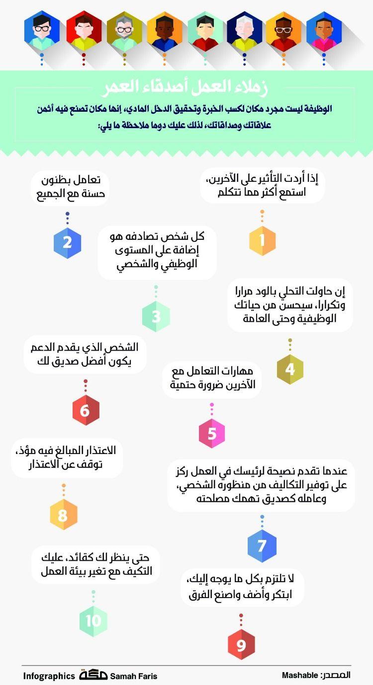 زملاء العمل أصدقاء العمر صحيفةـمكة انفوجرافيك تطويرالذات Infographic