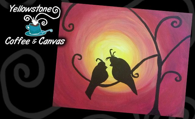 Single Canvas Painting Plus 1 Coffee Drink for $30 ($40 value)
